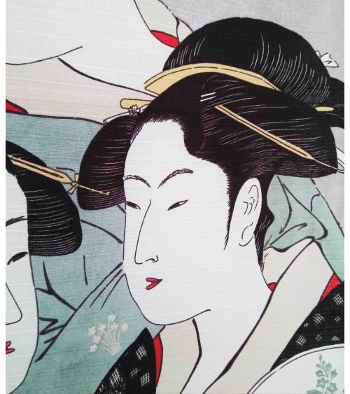 Furoshiki. Three Beauties (48cm x 48cm)