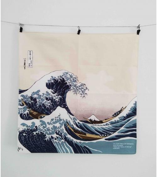 Furoshiki. La gran ola (48 cm x 48 cm)
