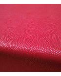 Papel washi decorado en rojo con ondas en puntitos plata