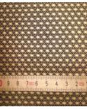 Papel Chiyogami asanoha dorada sobre fondo negro