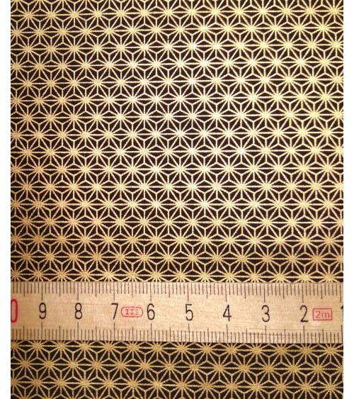 Chiyogami paper, golden ashanoha over black