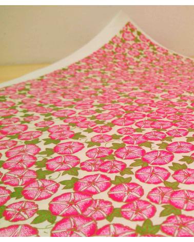 Papel Chiyogami de capuchinas en rosas