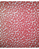 Papel Japonés Chiyogami de flores de ciruelo rojas
