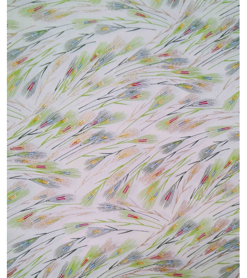 Chiyogami paper. Colorful spikes over white