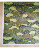 Chiyogami de nubes en verde