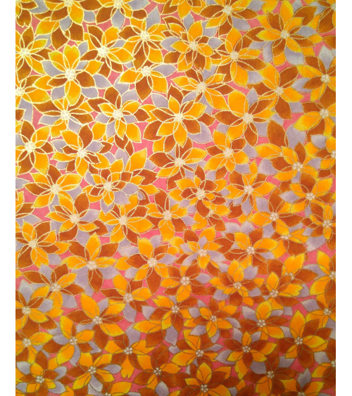 Chiyogami paper. Yellow flowers.