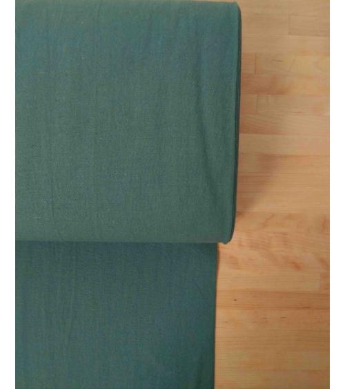 Loneta ligera teñida en verde celadon