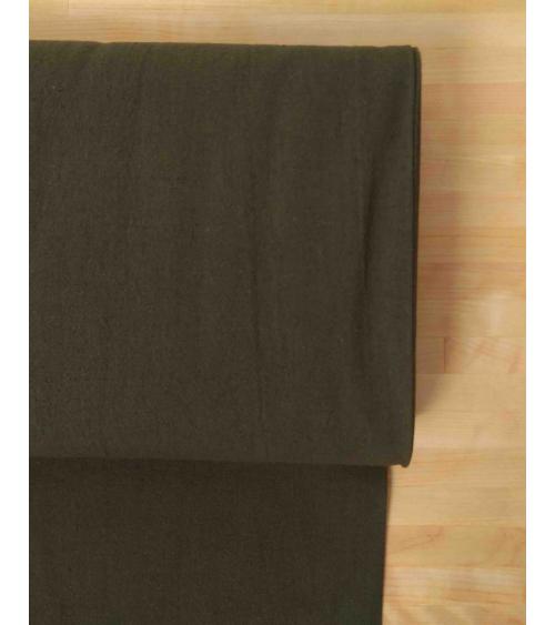 Cotton-linen Japanese canvas in dark olive green