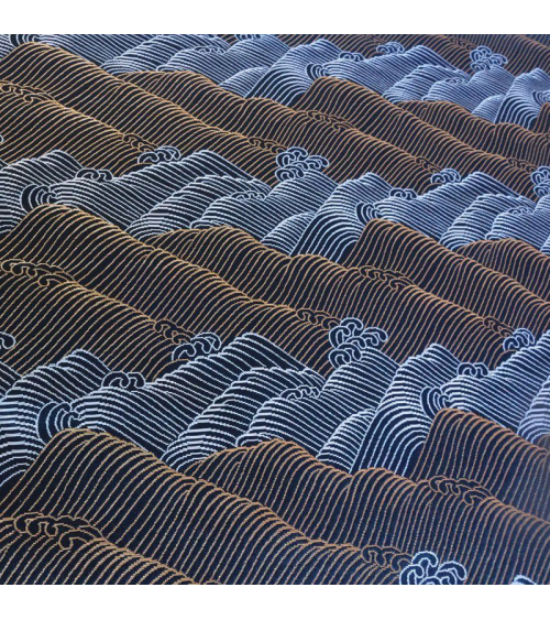 Brocado olas doraras y plateadas
