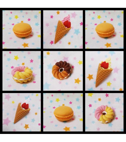 30 IWAKO erasers set. Happy birthday theme.