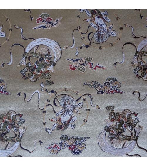 Brocado dioses del trueno y viento (Fujin y Raijin)
