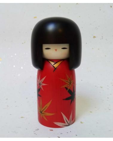 Kokeshi Kaede (Hoja de arce).