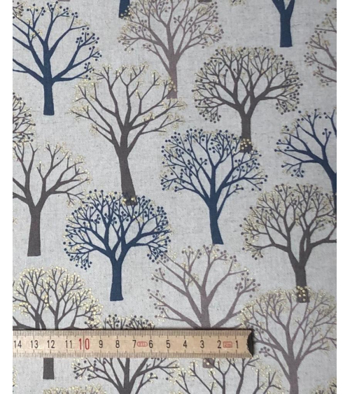 'Winter forest' Japanese canvas. Sand color.