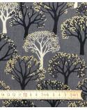 "Loneta Japonesa ""Winter forest"" gris."