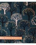 "Loneta Japonesa ""Winter forest"" verde."