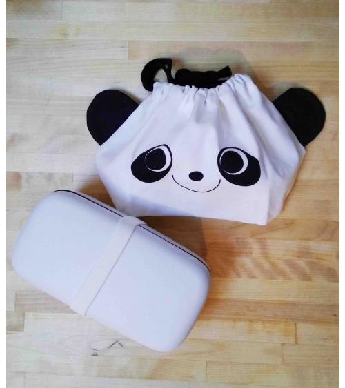 "Bento box y bolsa ""Panda"""