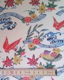 Katazome paper. Multicoloured birds.
