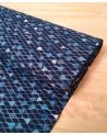 """Tela japonesa de algodón """"Peces"""" azul."""