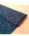 Japanese cotton fabric. Polka dots over navy blue.