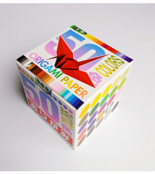 Kit papel origami. 1000 grullas (7x7cm, 50 colores)