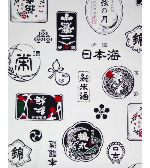 "Loneta japonesa ""Sake"" con fondo crudo"
