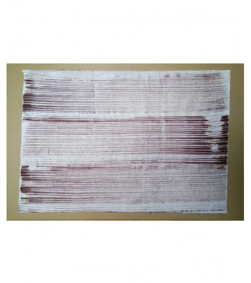 Papel washi pintado con kakishibu