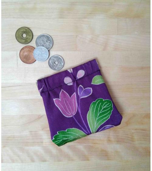 Japanese kimono silk coin purse.
