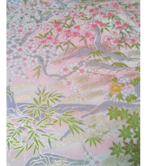 Chiyogami paper Spring landscape