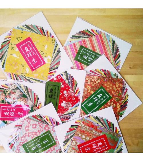 Kit papel origami 24 hojas 15x15cm.