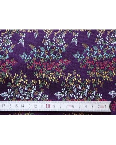 Brocado púrpura con flores multicolores (hana)
