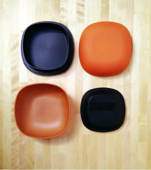 Bento box elegant oval wooden texture