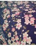 Papel Chiyogami Sakuras sobre azul oscuro