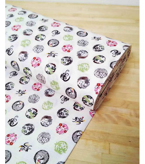 Japanese dobby fabric 'Kamon'.