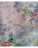 Kimono multicolor con palacios y puentes