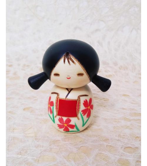Kokeshi Niña con coletas