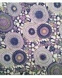 Papel washi chiyogami arabesco en tonos violáceos