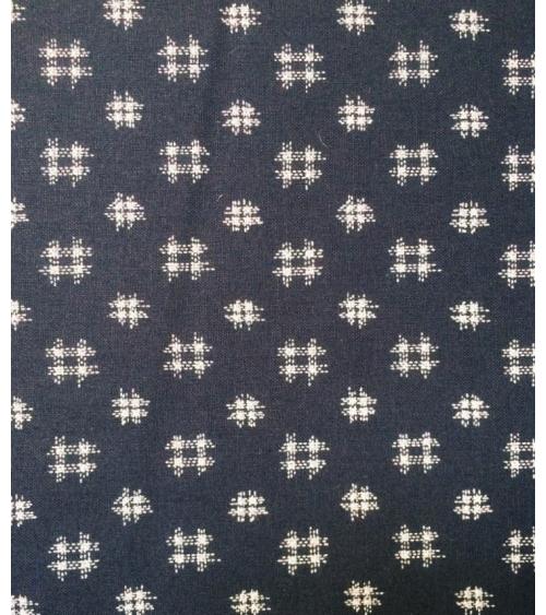 Japanese cotton fabric. Igeta over indigo blue