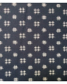 Japanese cotton fabric. Igeta over indigo blue