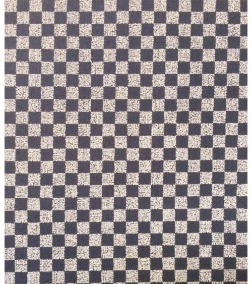 Japanese cotton fabric. Ichimatsu over indigo blue