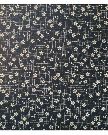 Tela japonesa. Sakuras sobre azul índigo
