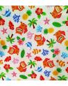 Japanese fabric. 'Okinawa' white.