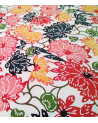 Katazome paper. Multicolored flowers.