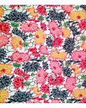 Papel Katazome Shi con flores multicolores