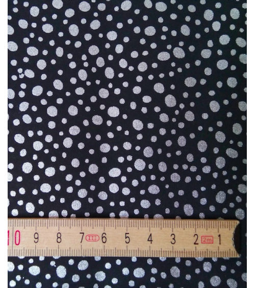 Chiyogami paper silver dots over black