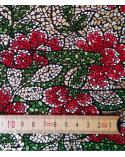 Papel japonés decorativo mosaico de flores