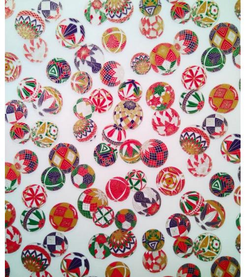 Chiyogami paper temari