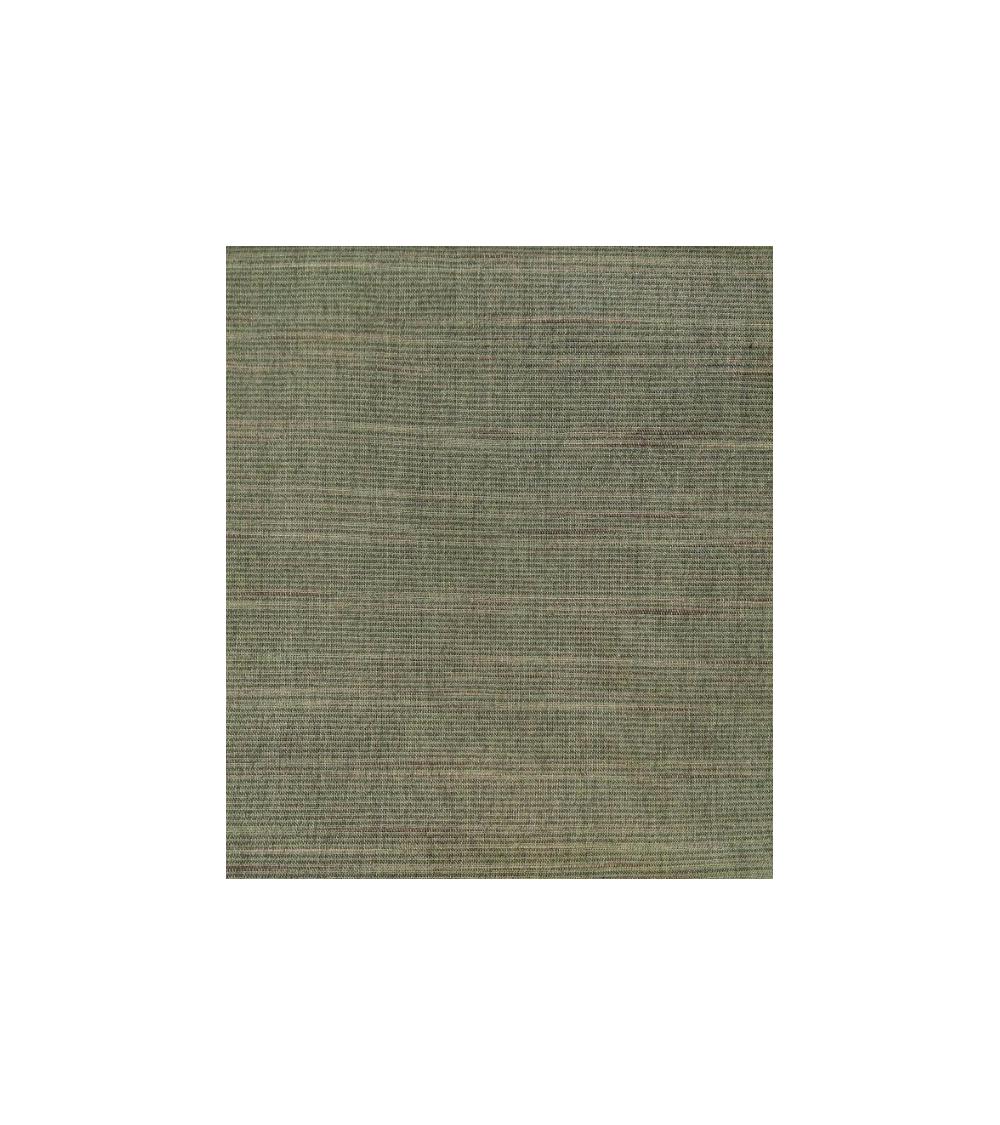 Tela tramada líneas verde jade
