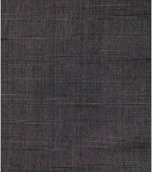 Yarn dyed fabric. Black-grey stripes.