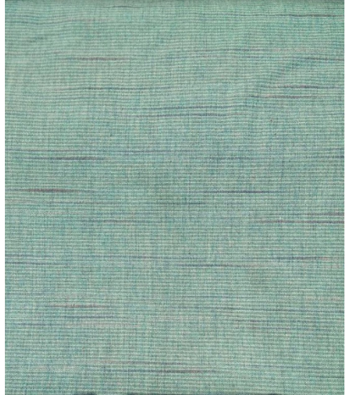 Yarn dyed fabric. Bluish stripes.