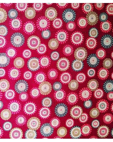Japanese dobby fabric 'Sombrillas' maroon